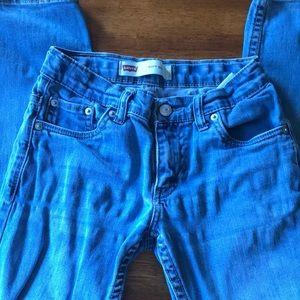 Boys Levi 511 light wash jeans